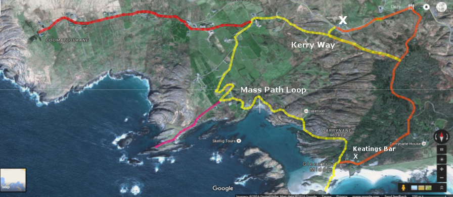 derrynane kerry way walking map