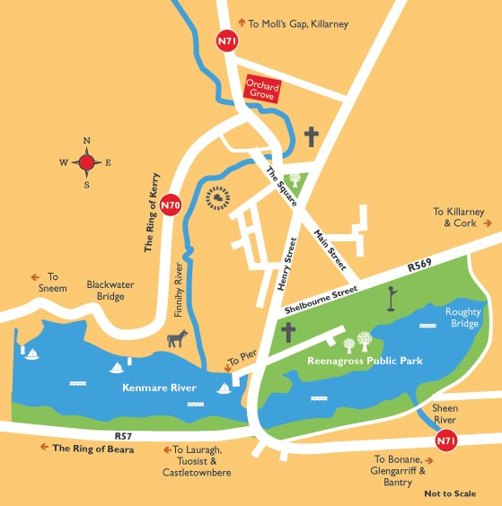 Map Of Ireland Kenmare.Kenmare Town Map